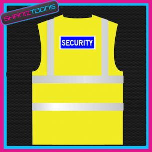 x1000 WORK WEAR YELLOW / ORANGE SECURITY HI VIZ VEST ADULTS SIZES